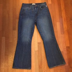 MADEWELL HIGH-RISE RIGID FLARE JEANS 31 T